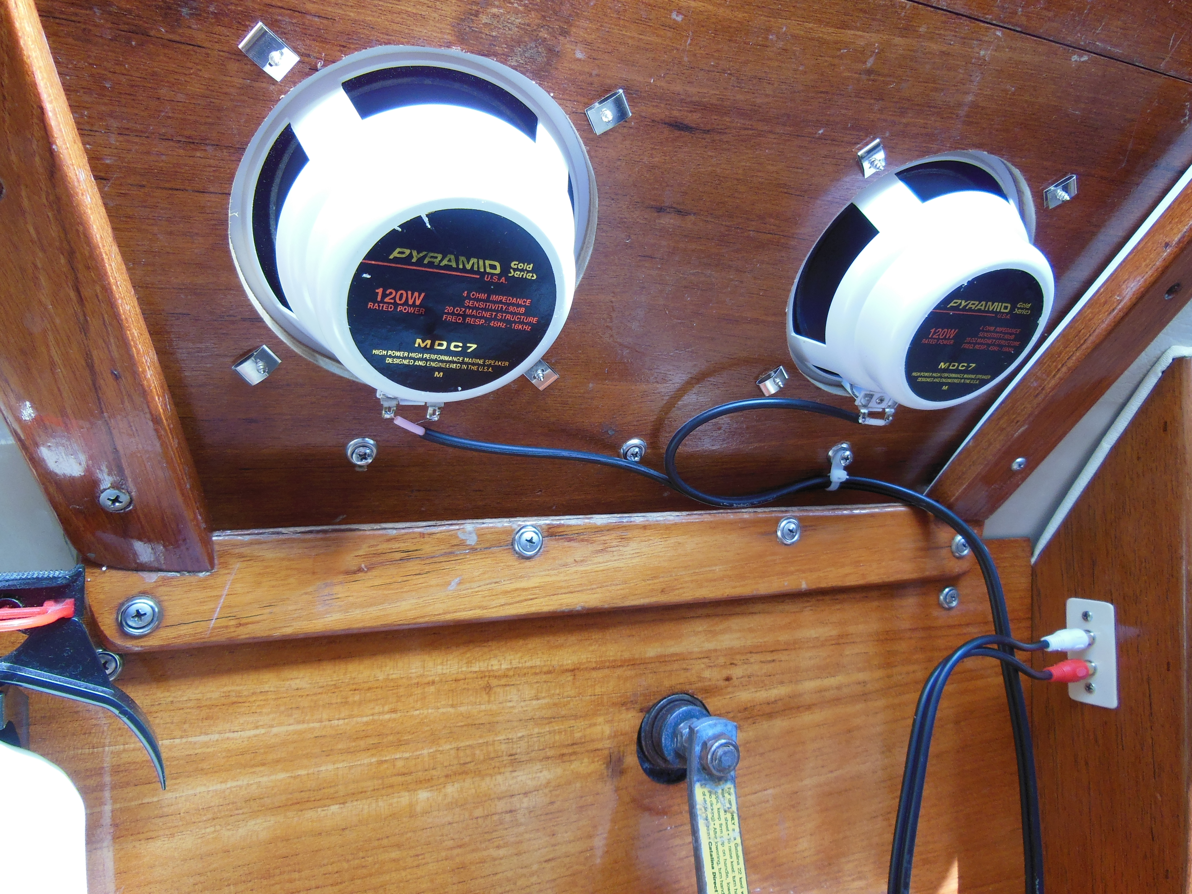 Installing A Marine Music System The Tingy Sailor Wiring Speakers In House Portable Speaker