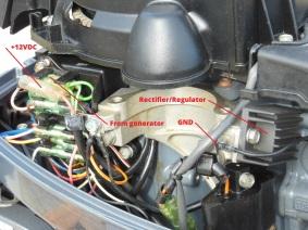 Rectifier/regulator installed
