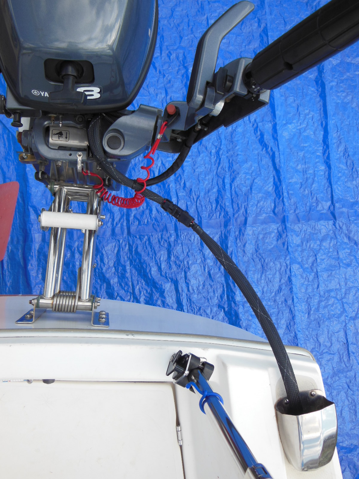 upgrade your outboard motor to charge your battery the tingy sailor wiring harness connected for use