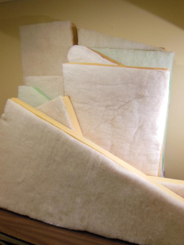 Foam with batting glued on