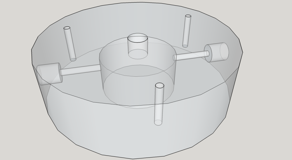 SketchUp model of the light mount