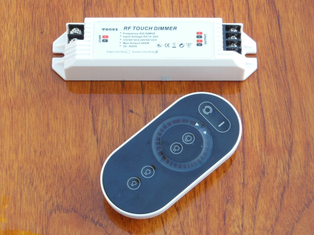 Two-channel remote control and receiver