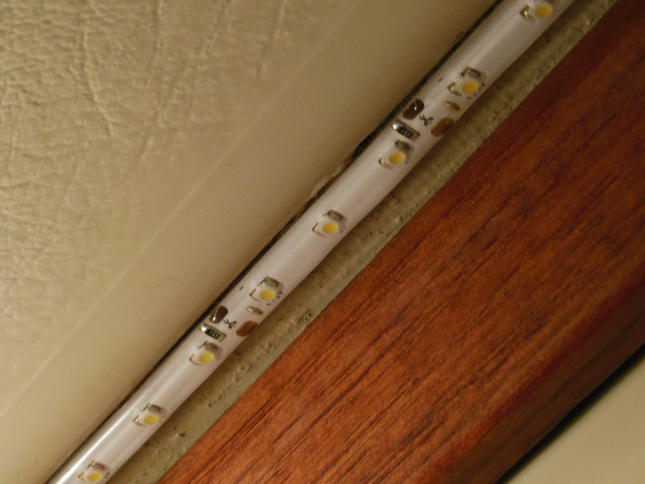 LED strip in the deck underside channel