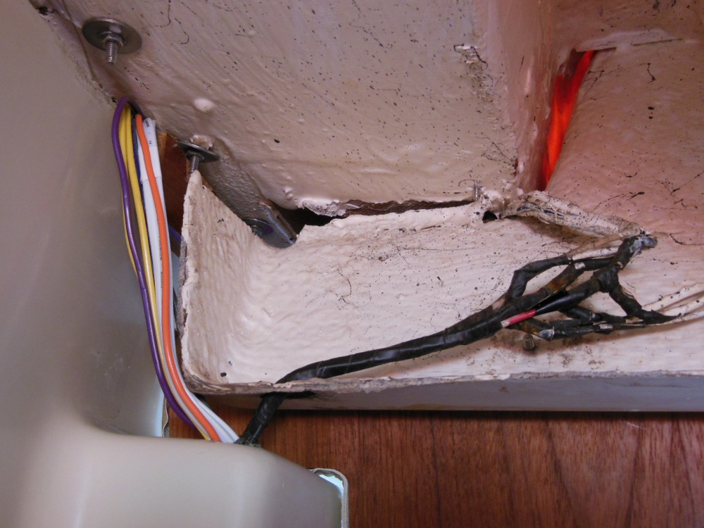 AFTER - new wiring next to the old