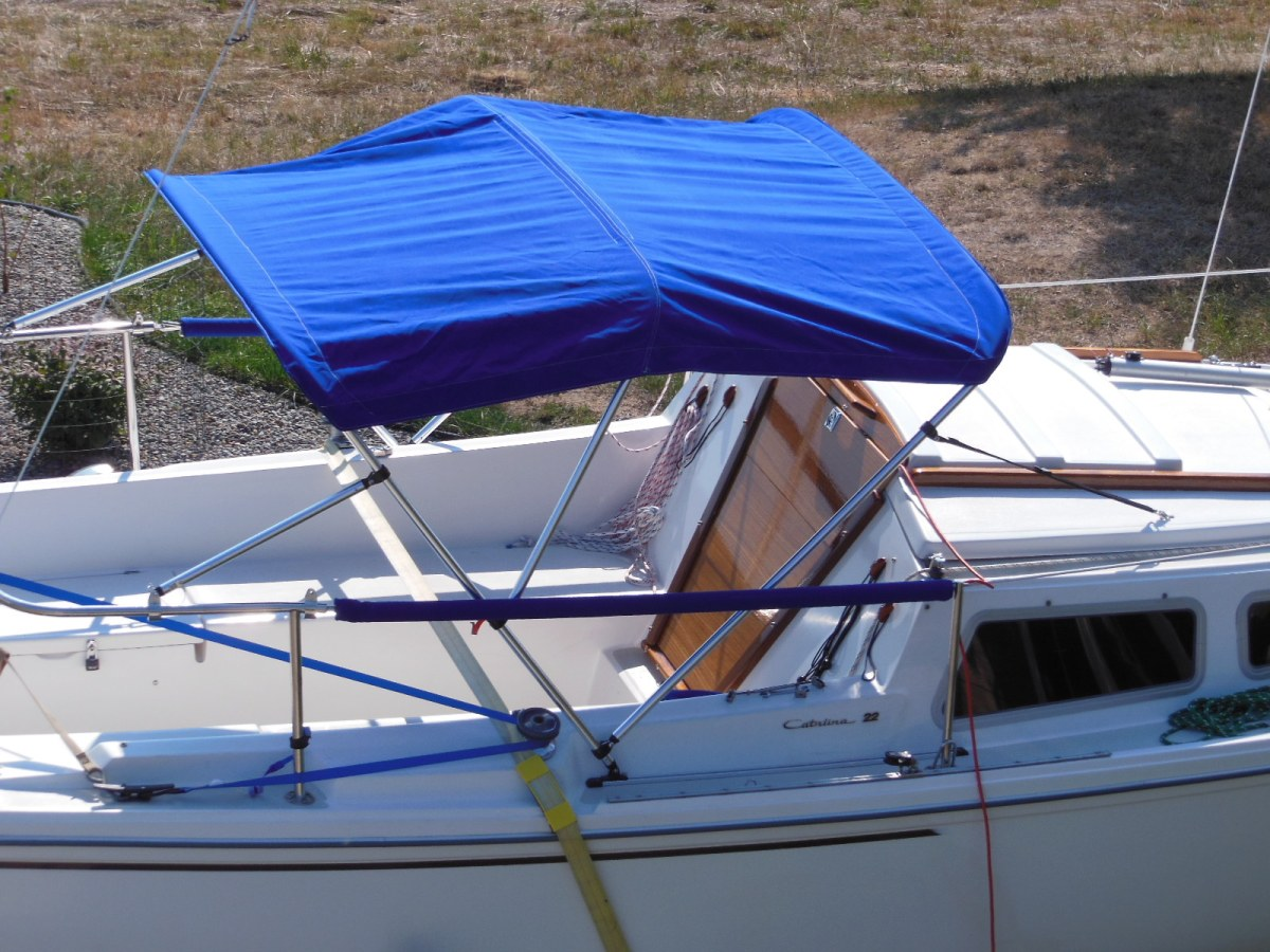 Upgrade To A Bimini Top On A Budget The Tingy Sailor