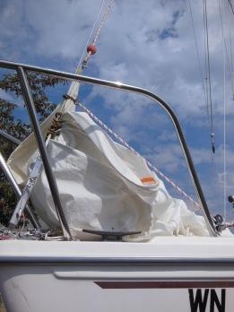 Headsail downhaul solution