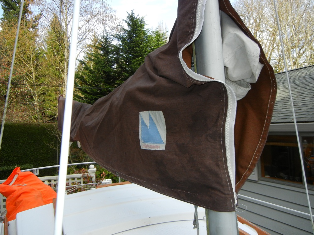 BEFORE - Ragged original mainsail cover