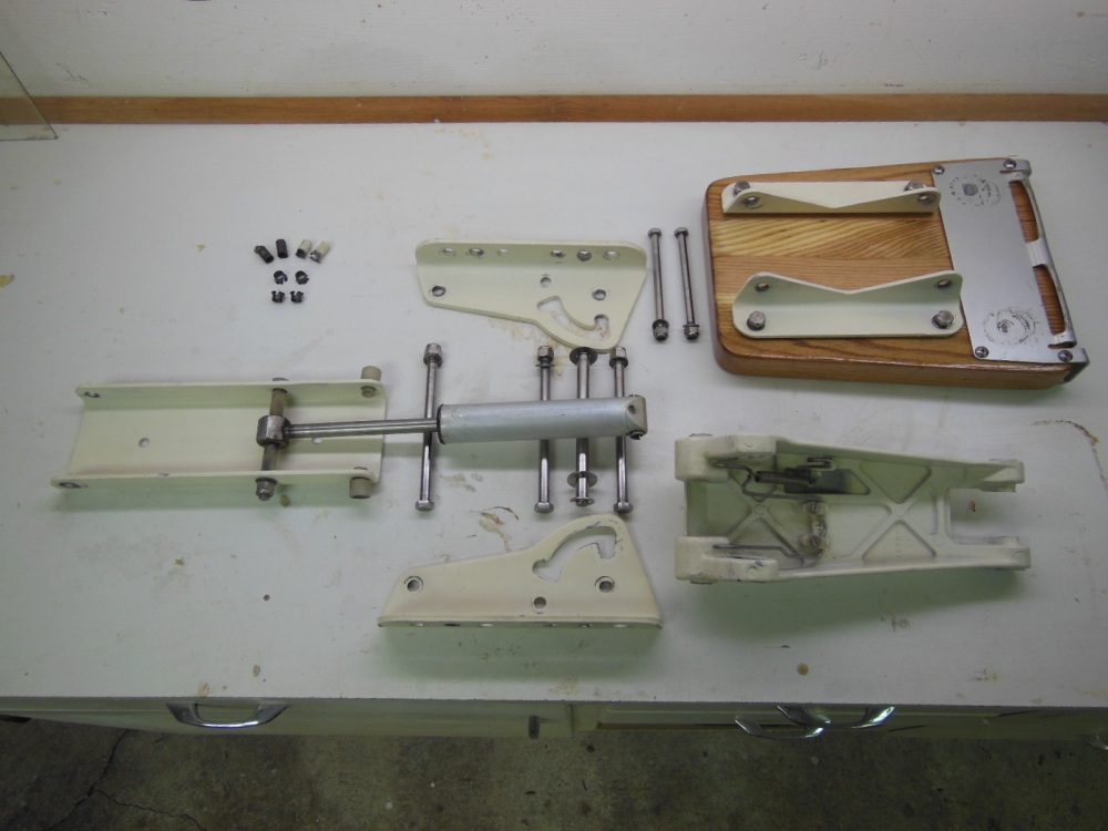 Disassembled motor mount