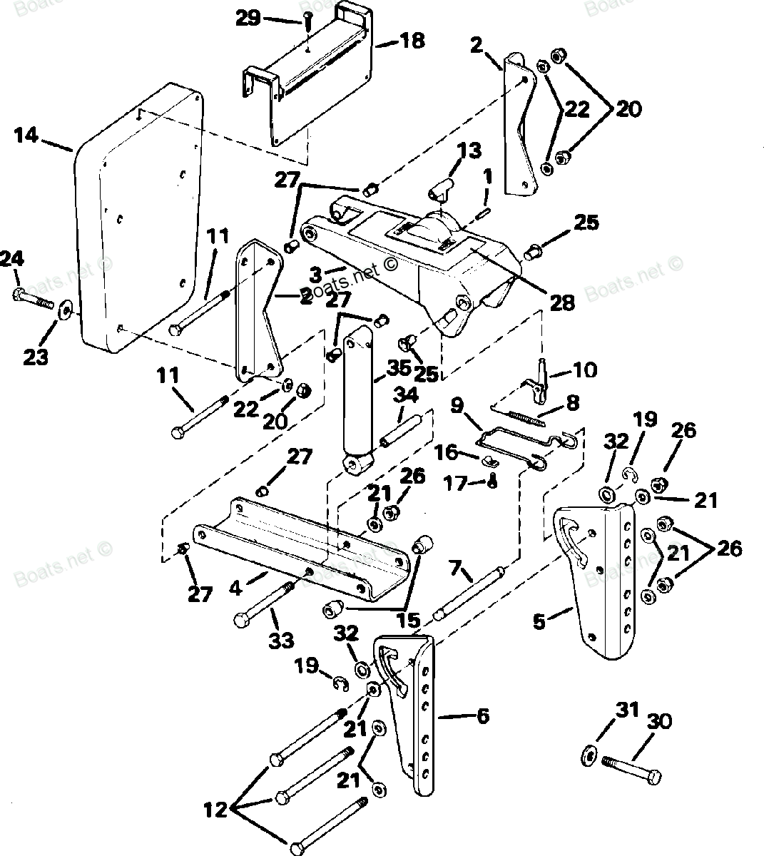 Upgrade To A Gas Spring Operated Outboard Motor Mount The Tingy Omc Wiring Harness Boat Parts Ebay Exploded Diagram