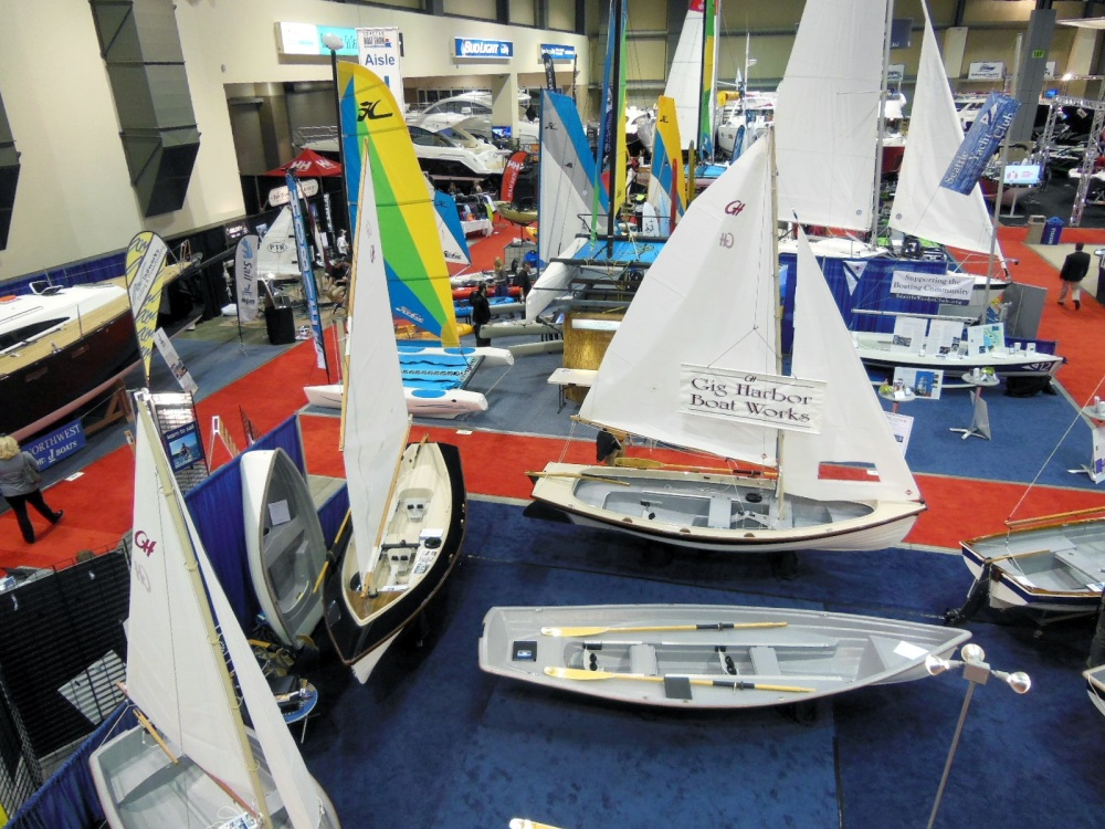 Sailboat corner of the show