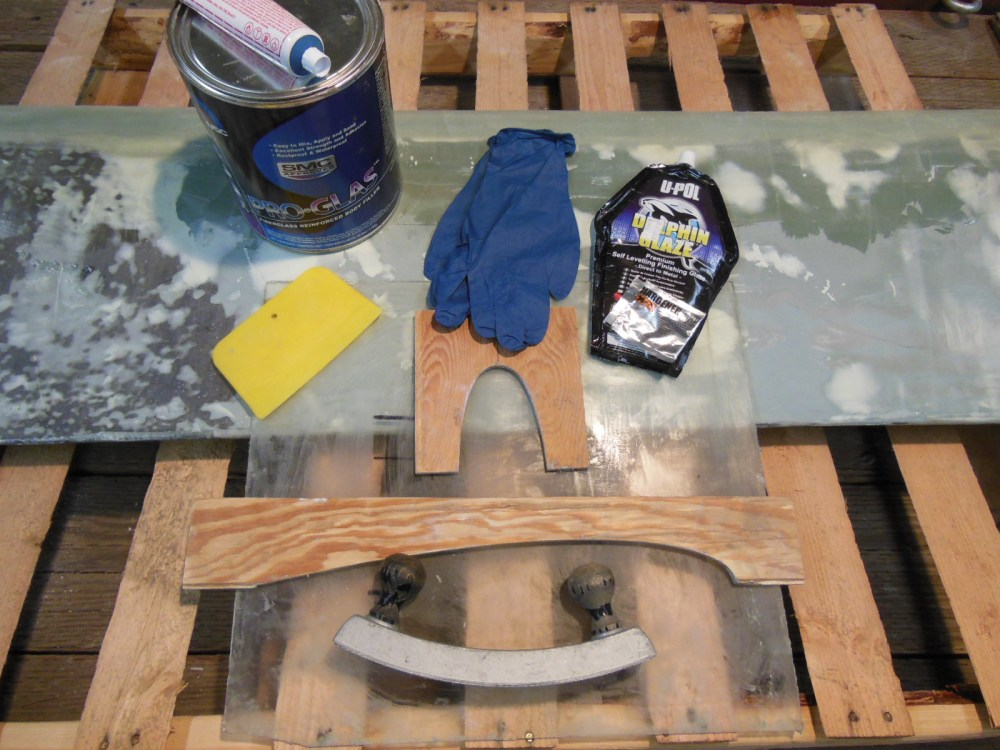 Tools and supplies for fairing