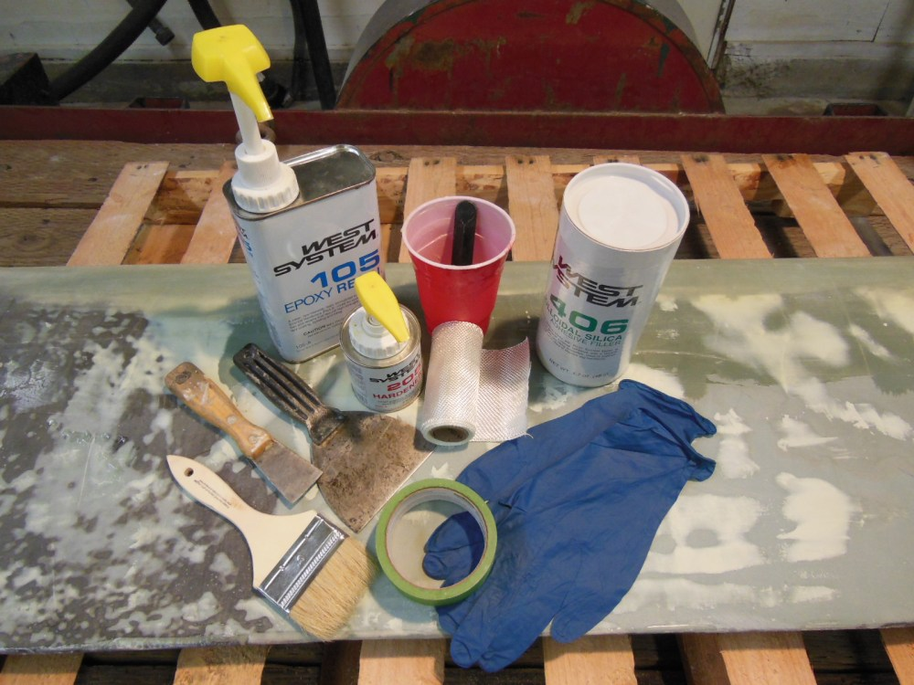 Tools and supplies for epoxy coating