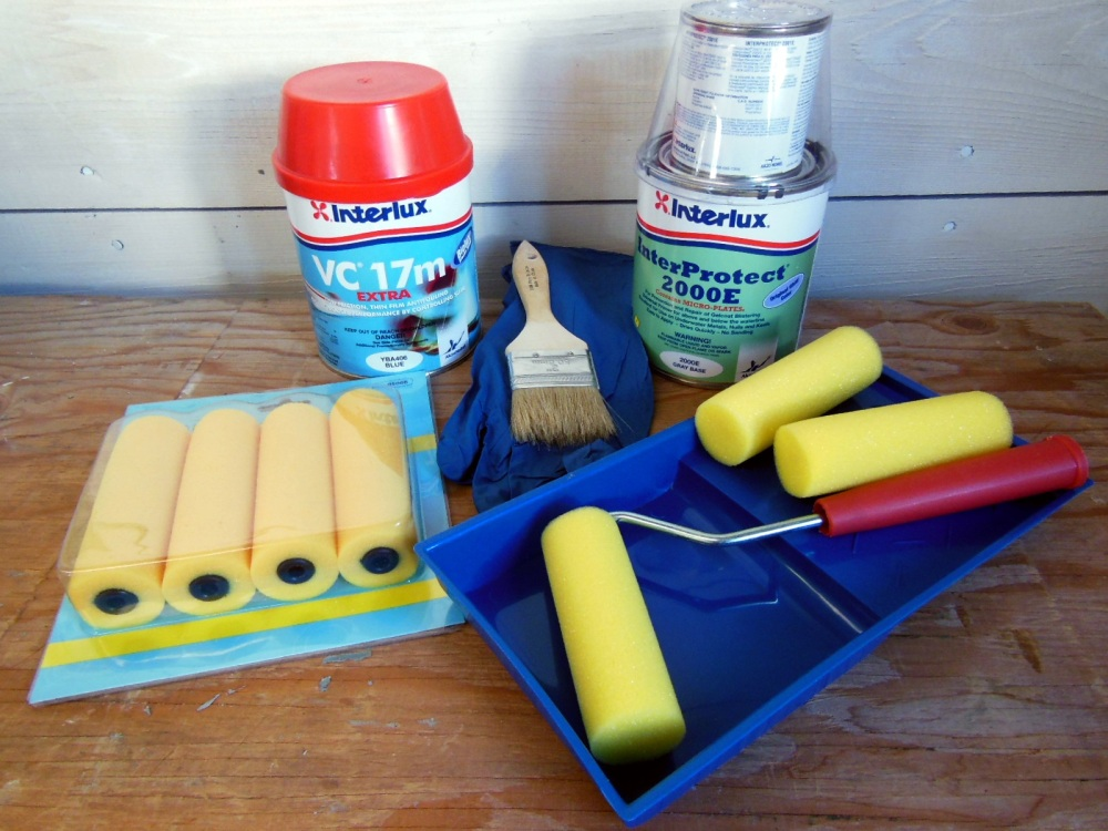 Tools and supplies for barrier coating and antifoul painting