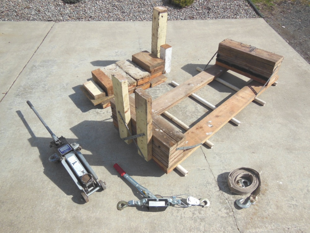 Tools and materials for removing a swing keel