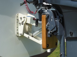 Upgrade to a gas spring operated outboard motor mount