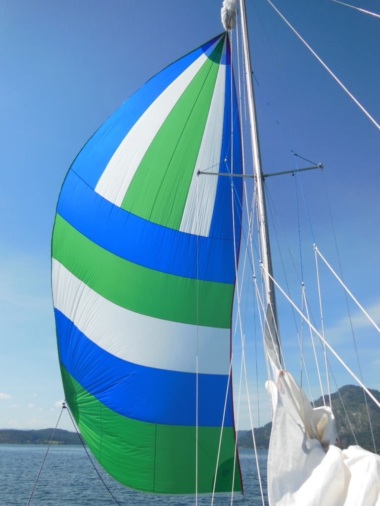 Running downwind with a full spinnaker is one of sailing's biggest joys