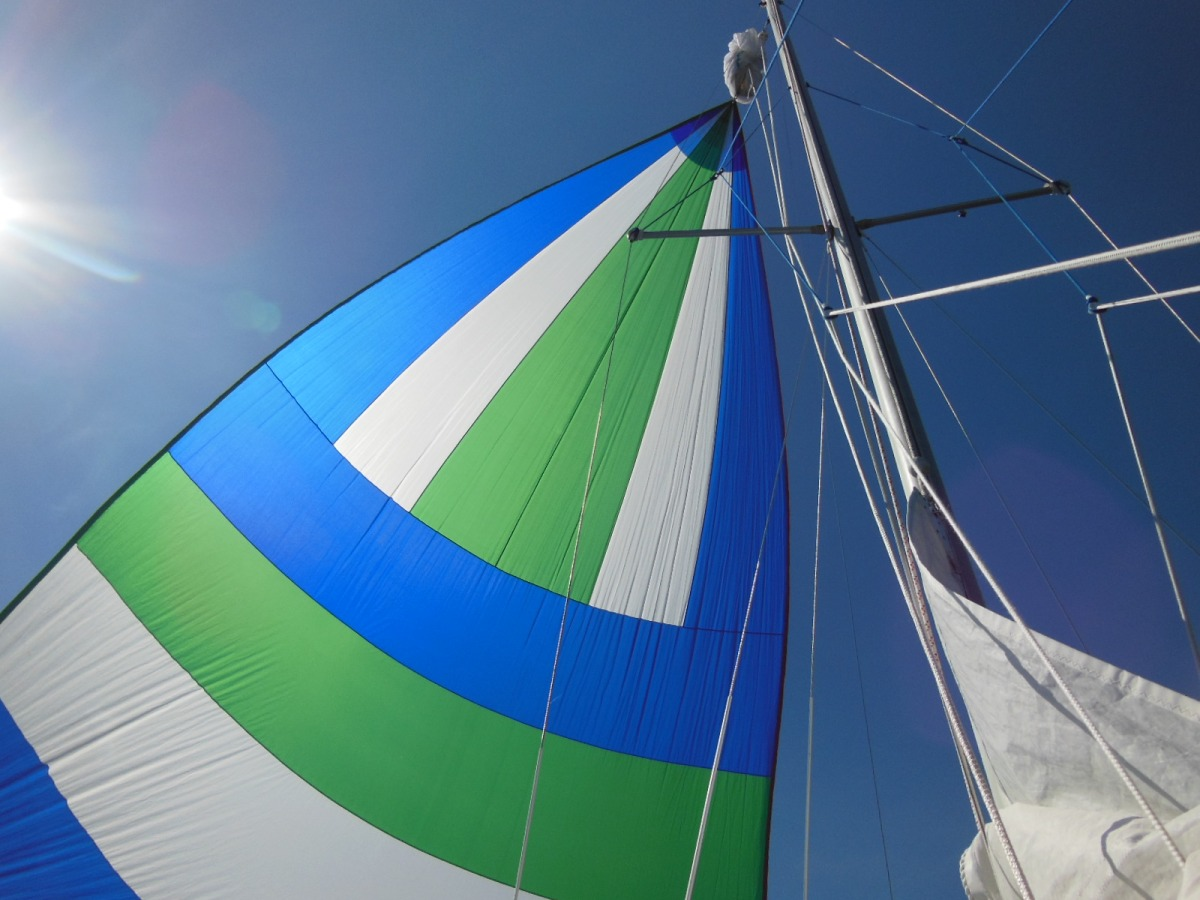 How To Rig A Cruising Spinnaker In 4 Stingy Stages The Tingy Sailor Tall Ship Types Plate