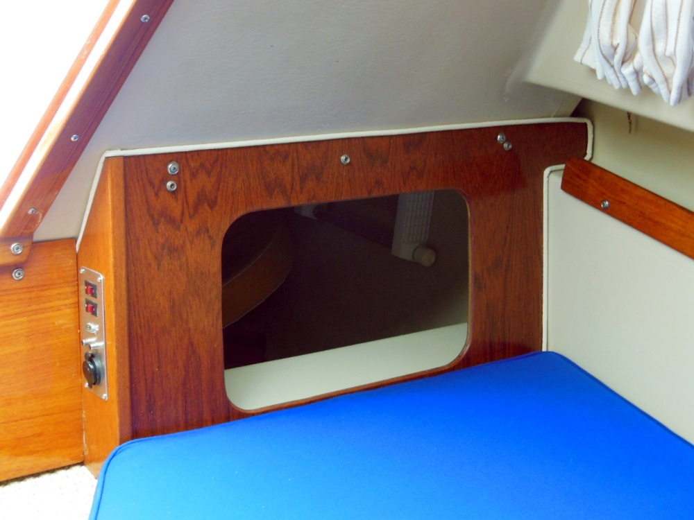 BEFORE - Port aft bulkhead with cushion removed