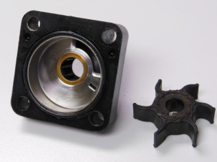 Water pump cover and impeller