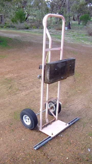 Hand truck turned motor stand