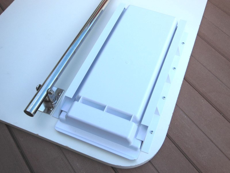 Add-A-Drawing installed on the underside of the dinette table